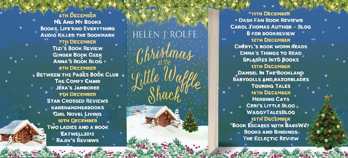 Book Review Christmas At the Little Waffle Shack - Blog Tour banner