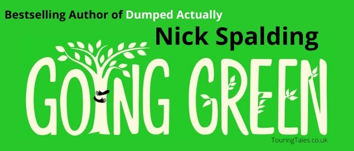 Book review Going Green by Nick Spalding banner by Touring Tales book blog