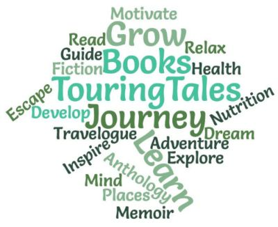 Word Cloud created by Touring Tales Books - About page image