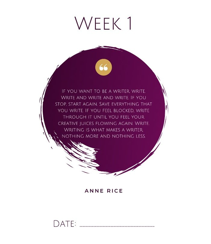 Book Extract 52 weeks of writing by Marielle S Smith - example quote week 1