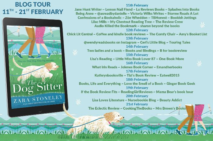 Image of the Book Blog Tour for The Dog Sitter by Zara Stoneley.