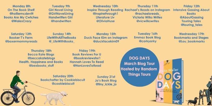 Book Review Dog Days Ericka Waller - Blog Tour Banner