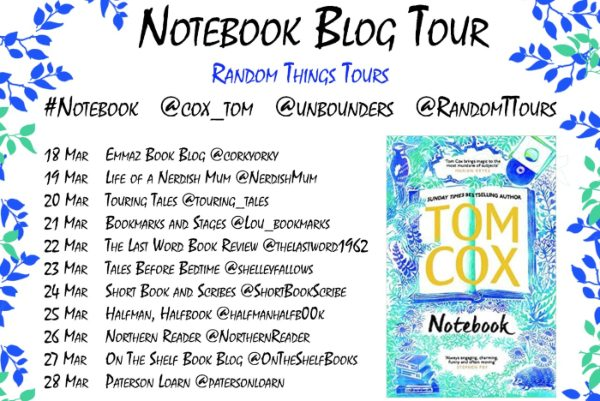Blog Tour Banner courtesy of Random Things Tours for Notebook by Tom Cox -