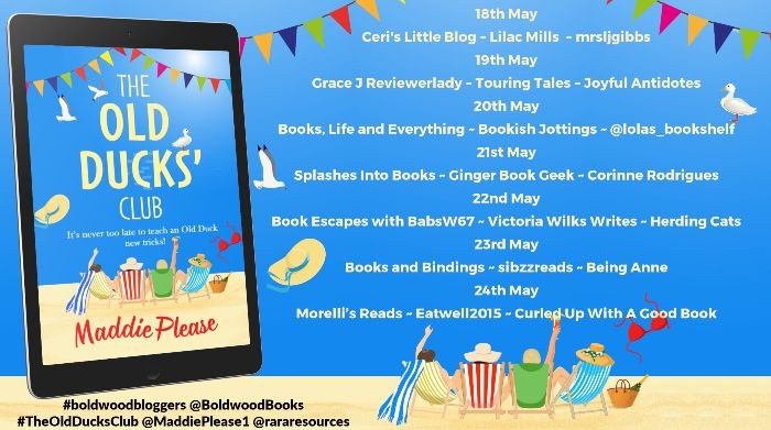 Blog Tour Banner of The Old Ducks Club