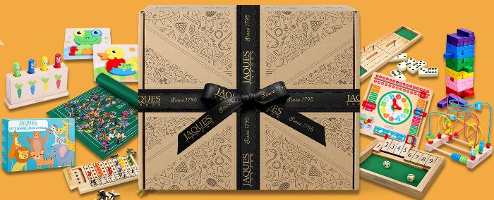 Travel Board Games Jaques of London - Amazon Shop Banner and Link