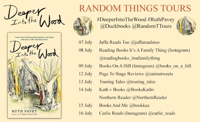 Blog Tour Poster Banner - Deeper Into The Wood by Ruth Pavey