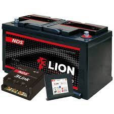 Image of an NDS 100ah Lithium battery. Motorhome upgrades - Electrics.